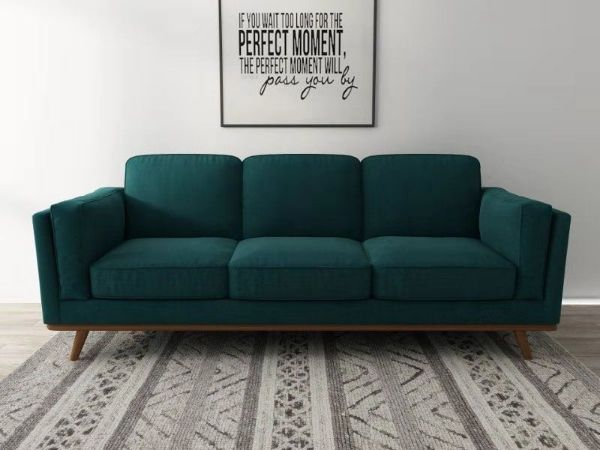 PANAMA 3 Seat Sofa *Green Velvet