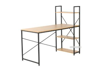 Picture of City 140 Desk -With Shelf *Black