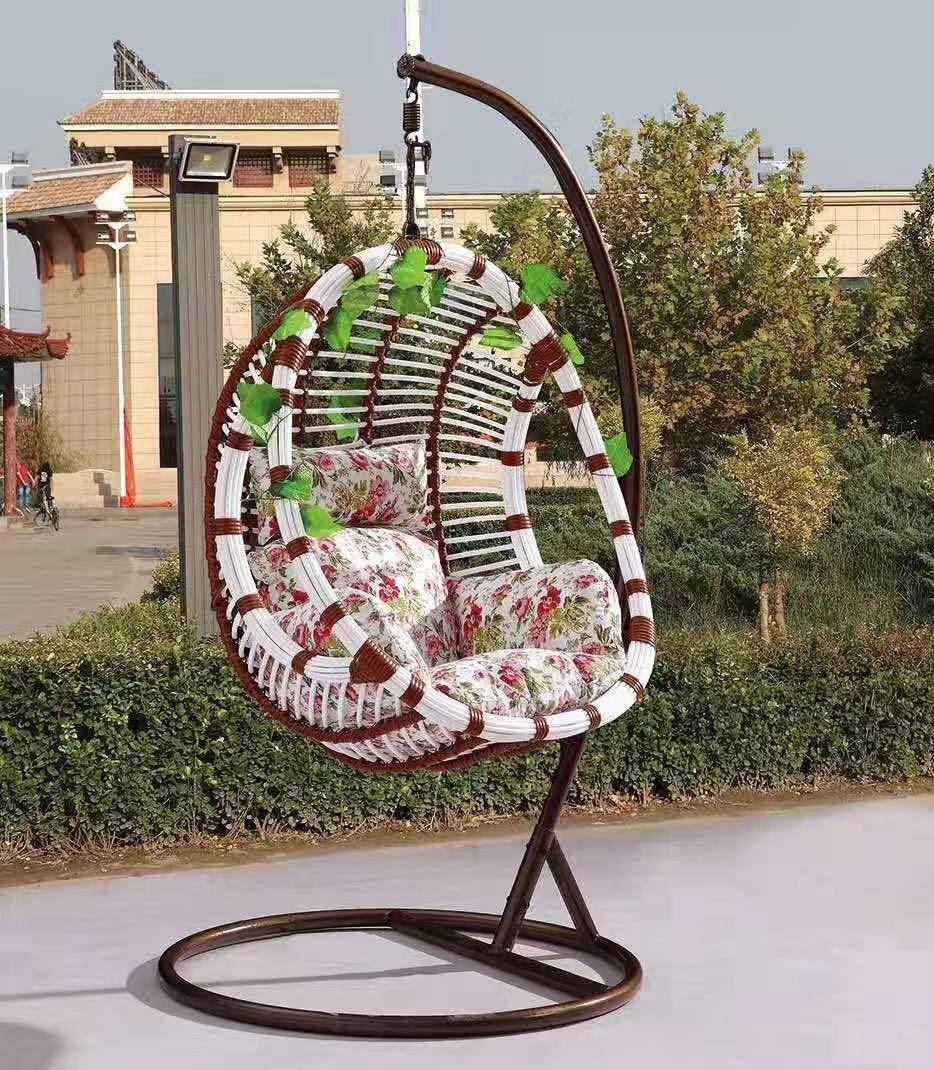Outdoor Hanging Egg Chair *Brown/White