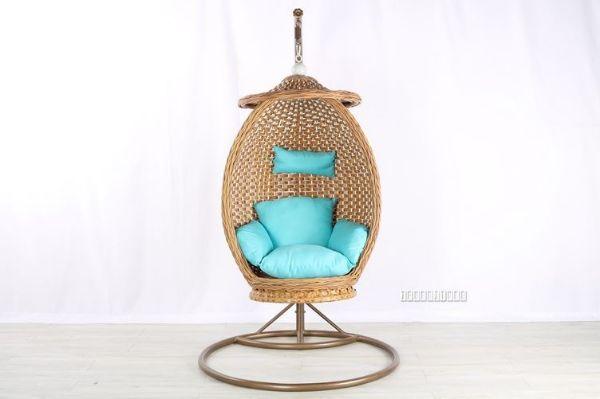 Batik Rattan Hanging Egg Chair