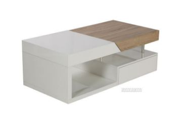 Picture of Weiss Sliding Drawer coffee table * Gloss White
