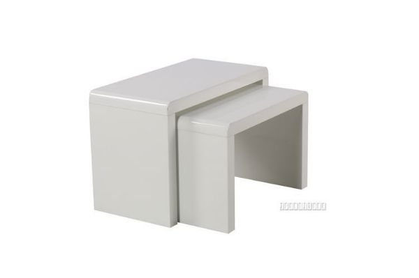 Picture of Weiss Nesting table *Gloss White