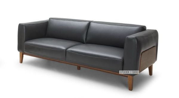 Picture of Huddersfield 3+2 Sofa - Black *100% Genuine Leather