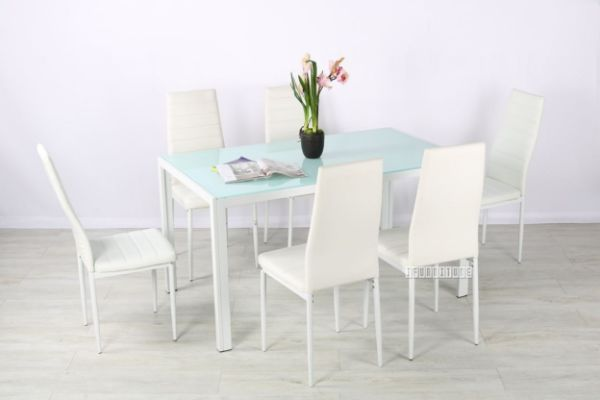Picture of CANNES 7PC Dining Set *White