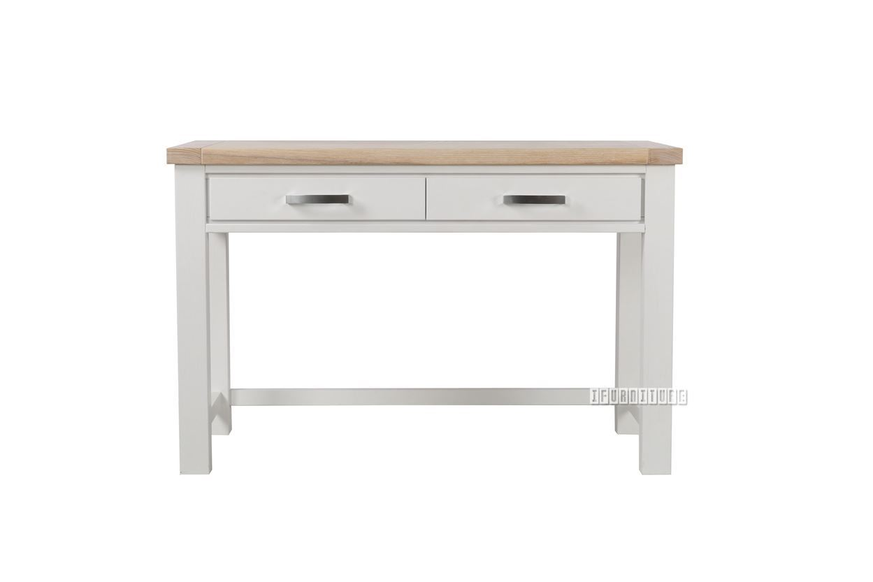 Sicily 120 Small Office Desk Solid Wood Ash Top