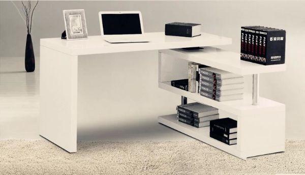 Picture of SEAN Swirl Desk in Matt White