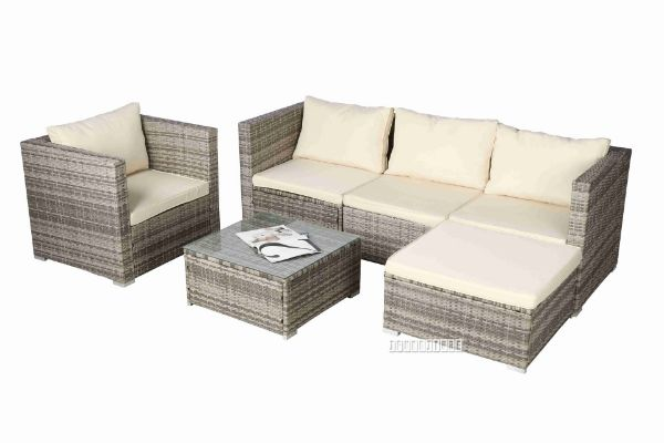 Picture of WHATIPU Modular Rattan Outdoor Sofa Set