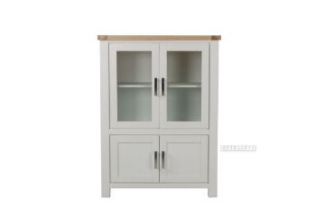 Picture of Sicily 4 Door Display Cabinet *Solid Wood - Ash Top