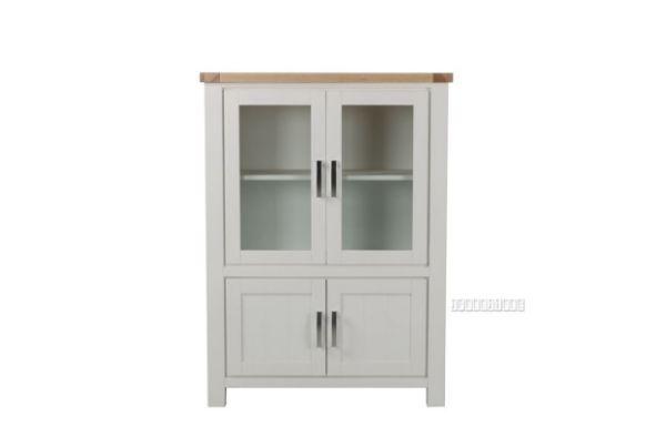 Picture of Sicily 4 Door Display Cabinet *Solid Wood - Ash Top