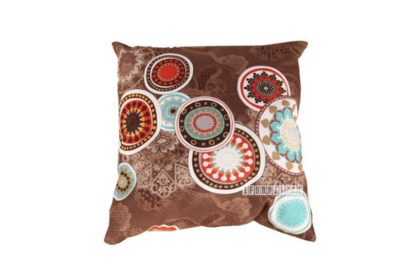 Picture of Jenny Pillow/Cushion * Brown Circle