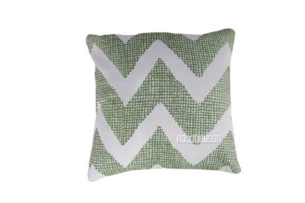 Picture of Jenny Pillow/Cushion * Dark green-ZigZag