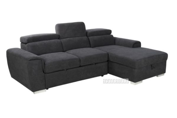 Picture of ELBA SECTIONAL SOFA/ SOFA BED WITH STORAGE * Dark Grey