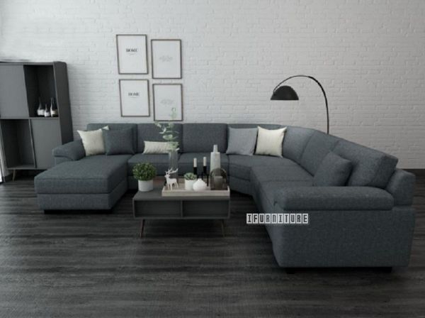 Superb Bolton 6 Seater Reversible Sectional Modular Sofa Dark Grey Dailytribune Chair Design For Home Dailytribuneorg