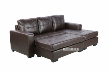 Picture of JESSIE Sectional Sofa with Ottoman *Reversible & Sofa Bed In Dark Brown