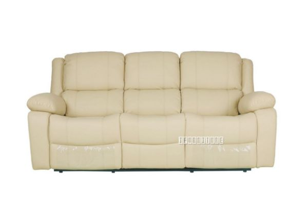 Picture of BRIGHTON Reclining Air Leather Sofa Range *Beige