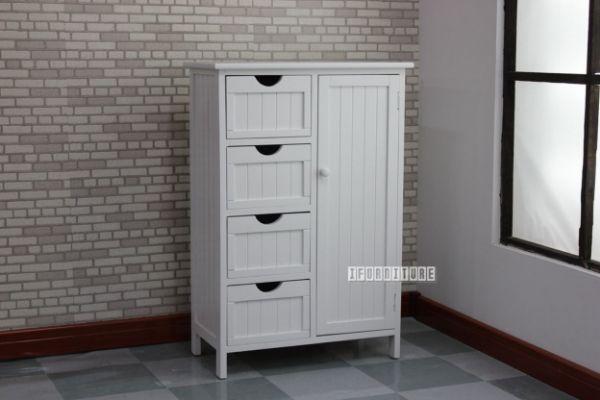 Picture of Norton 4 Drw 1Dr Small Cabinet * White