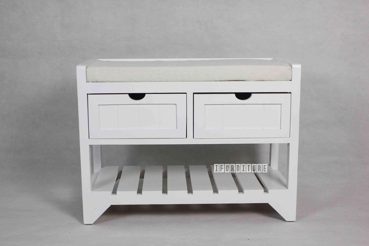 Norton 2 Drw Small Bench * White