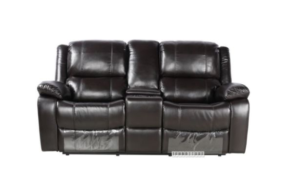Picture of BRIGHTON Reclining Air Leather Sofa Range *Dark Brown