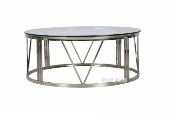 Galaxy Round Coffee Table Clear Glass