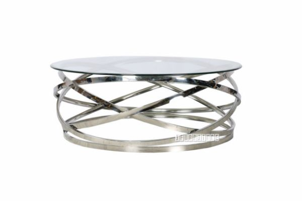 Kona Round Coffee Table Clear Glass
