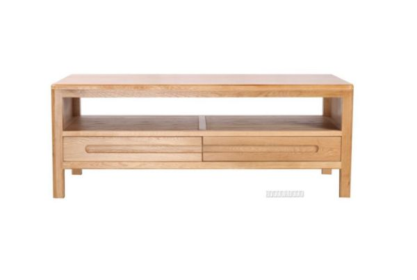 Picture of Berkely Solid OAK Coffee Table with 2 Drawers
