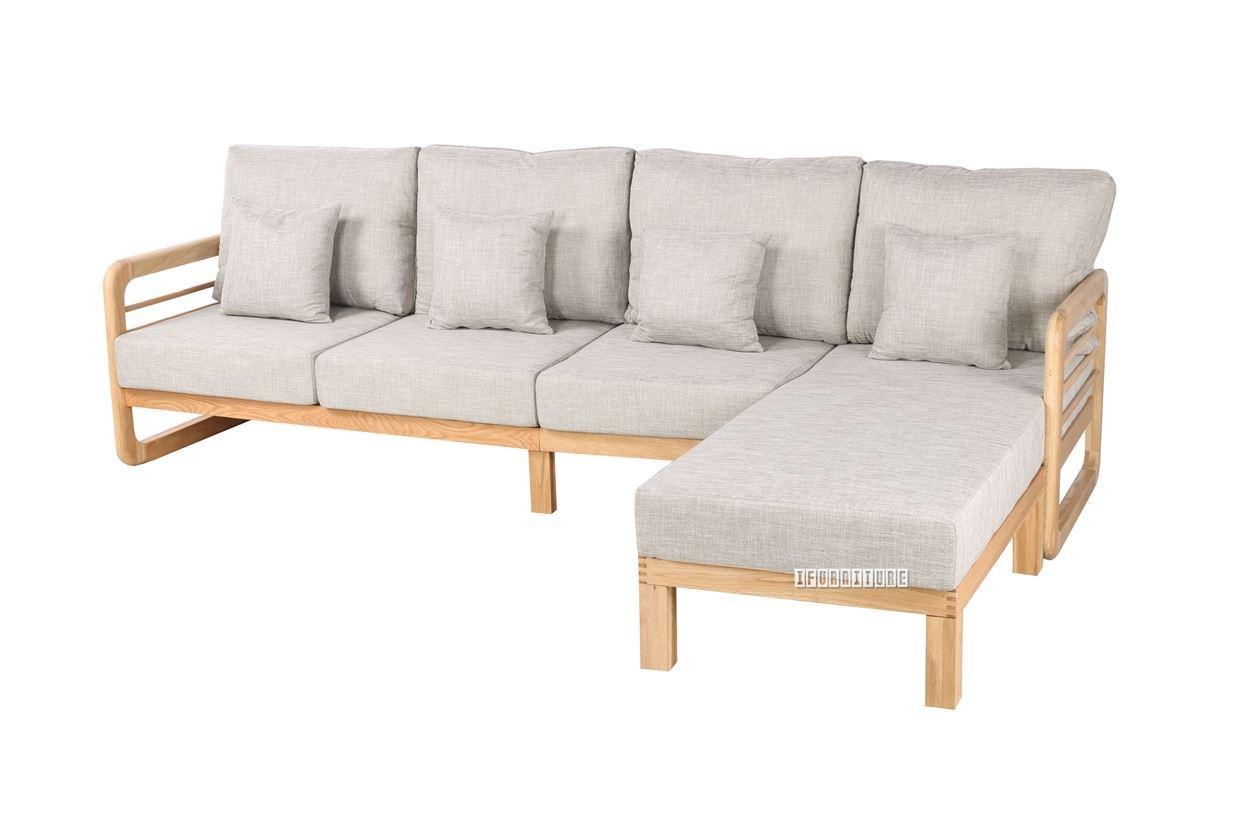 Alton Lshape Reversible Sectional Sofa Solid Oak