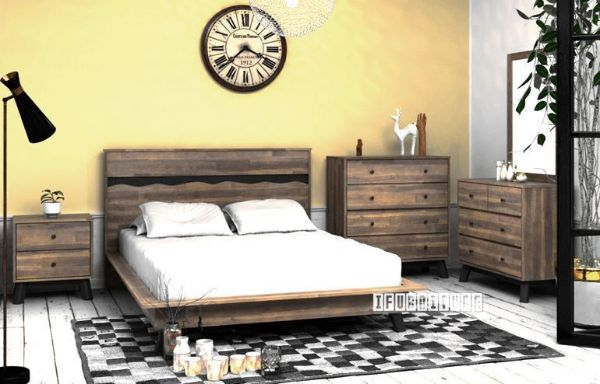 Picture of Calla Bedroom Combo in Queen Size *Solid Acacia