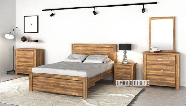 Picture of Sara Bedroom Combo in Queen Size *Solid Acacia
