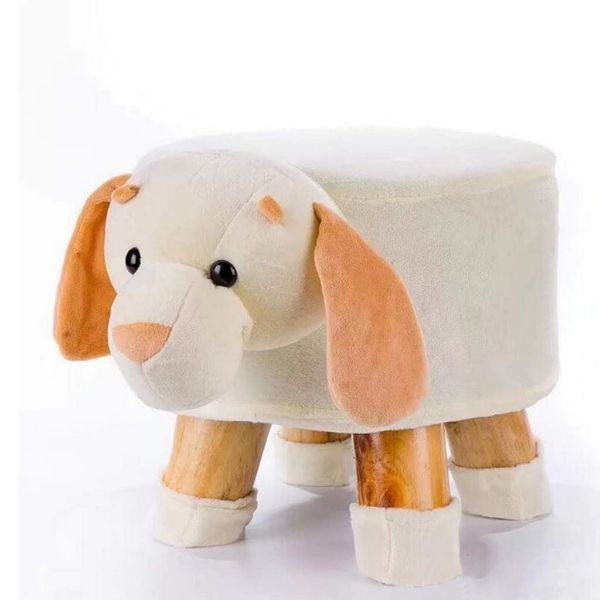 Picture of PLUSH ANIMAL FOOT STOOL *Puppy