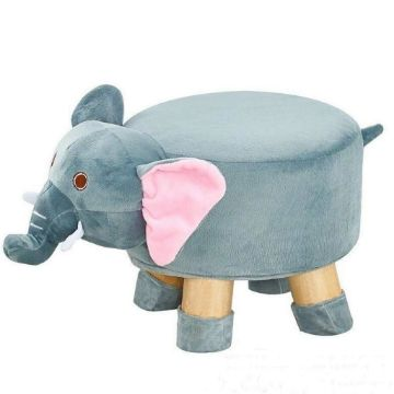 Picture of PLUSH ANIMAL FOOT STOOL *Elephant