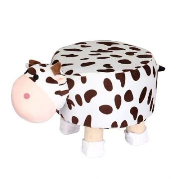 Picture of PLUSH ANIMAL FOOT STOOL *Cow