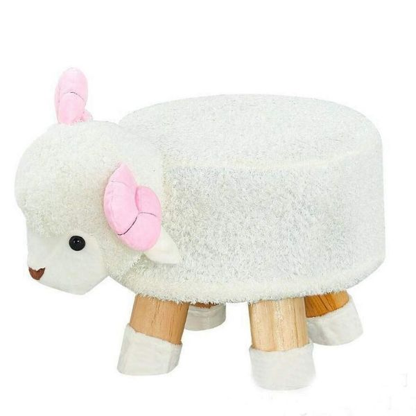 Picture of PLUSH ANIMAL FOOT STOOL *Sheep