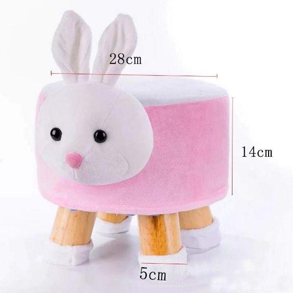 Picture of PLUSH ANIMAL FOOT STOOL *Pink Rabbit