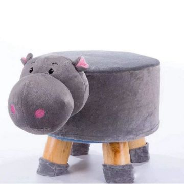 Picture of PLUSH ANIMAL FOOT STOOL *HIppo