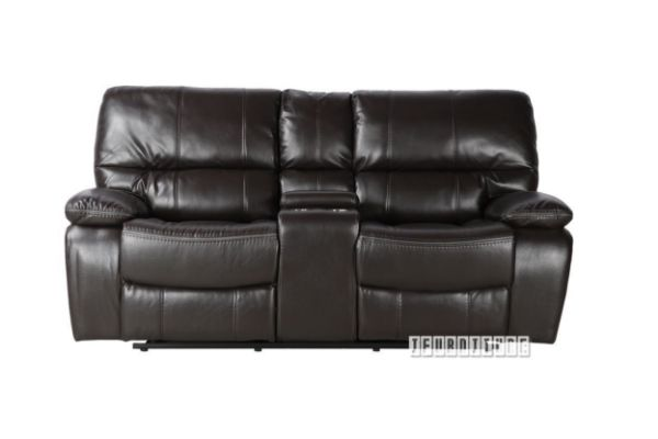 Picture of Arthur Reclining Air Leather Sofa Range *Espresso