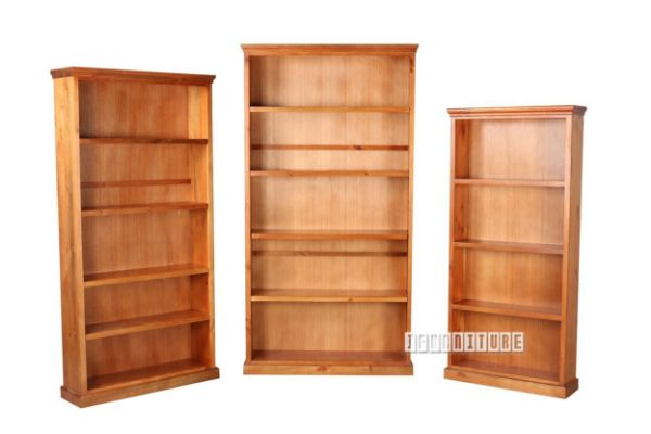 Farmhouse Bookshelf In 3 Sizes Solid Pine