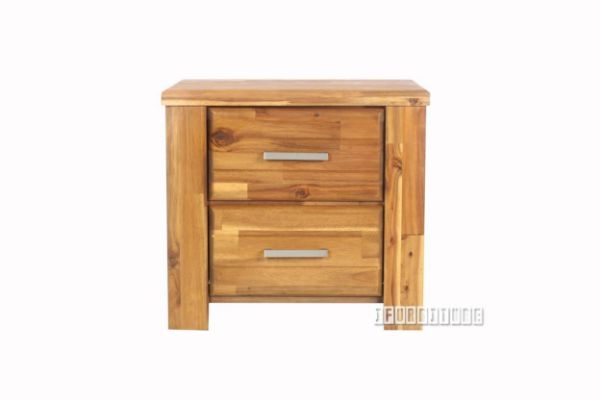 Picture of Sara 2drw Bedside Table  *Solid Acacia