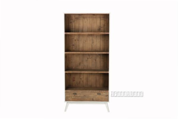 Picture of Maurus 1drw Wide  BookShelf *Recycle Pinewood