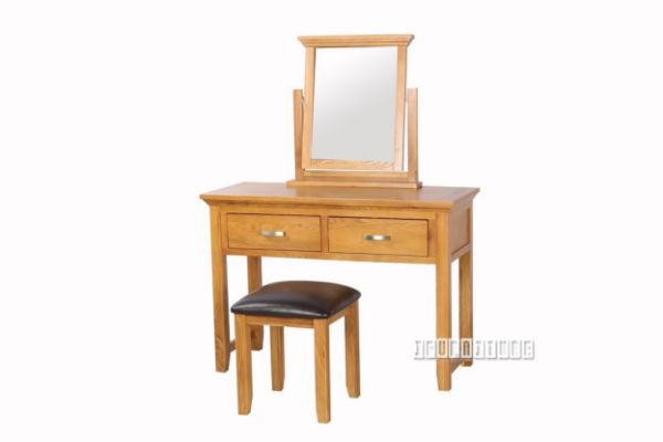 Picture of Nottingham 2Drw Dressing Table with Stool *Solid Oak