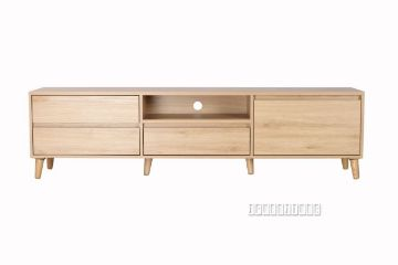 Picture of RENO 180 4Drawer TV Unit *Solid Wood Leg