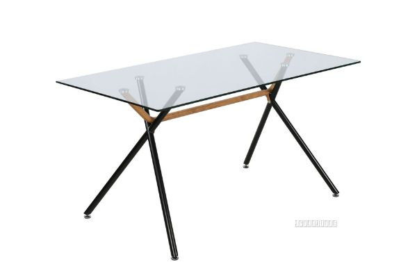 Picture of Cosmo 140 Glass Rectangle Dining Table