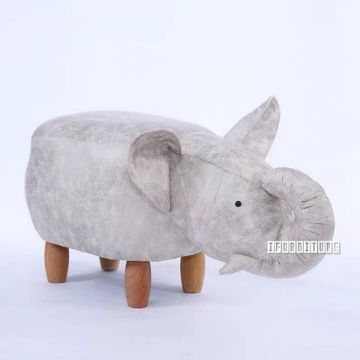 Picture of ANIMAL BIG HARDWOOD ELEPHANT OTTOMAN