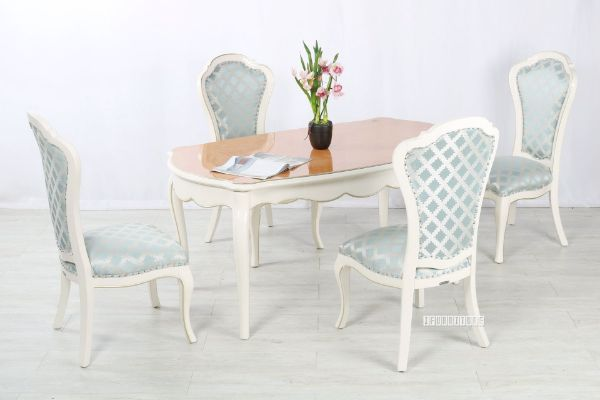 Picture of Ferrol 5pc Dining Set  *Blue Chairs
