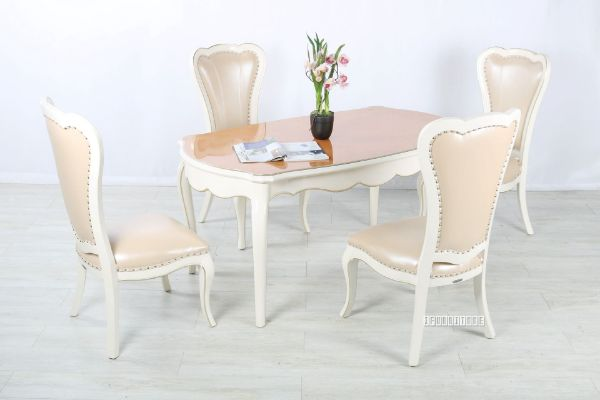 Picture of Ferrol 5pc Dining Set  *Beige Chairs
