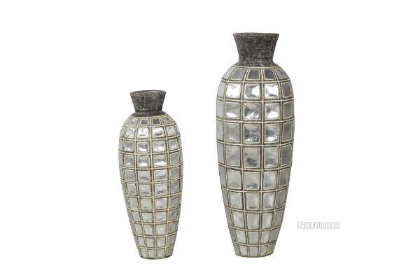 Picture of GCR108 Flower Vase Set 68/90cm *Brown Antique/Silver