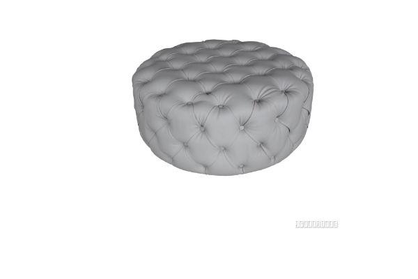 Picture of Ohio Round Ottoman *Light grey