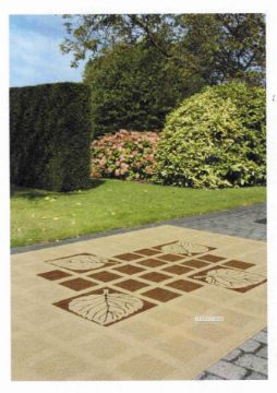 Picture of Decora 80/120/200  Indoor/Outdoor Rug-Made In Belgium *Border Brown