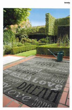 Picture of Decora 80/120/200  Indoor/Outdoor Rug -Made In Belgium *Sqaures Grey
