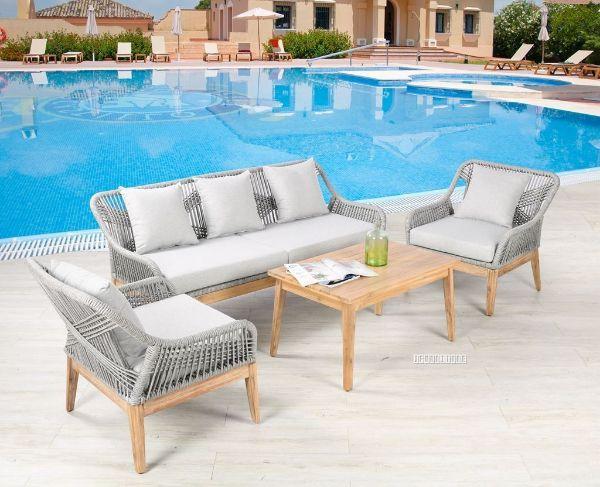 Picture of Ceri  4Pc Outdoor Sofa Set *Aluminium Frame + Solid wood