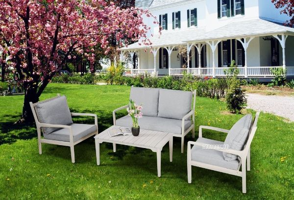 Picture of Sorrento 4Pc Outdoor/Indoor Sofa Set *Solid  Acacia